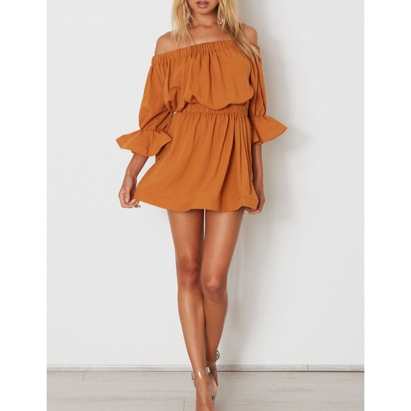 928b265091425 White Fox Boutique Dresses | All Of The Stars Mini Dress In Rust ...